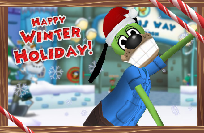 Happy Winter Holiday from Toontown!