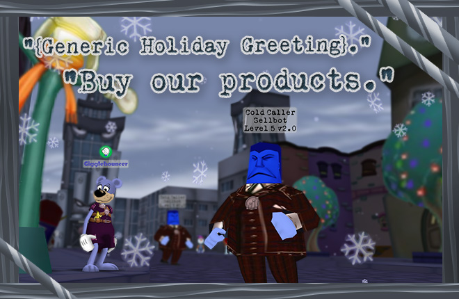 Generic Holiday Greeting from the Cold Callers. Buy more products from Cogs, Inc.