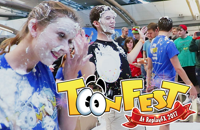 The Biggest Toontown Pie Toss EVER at ReplayFX 2017.