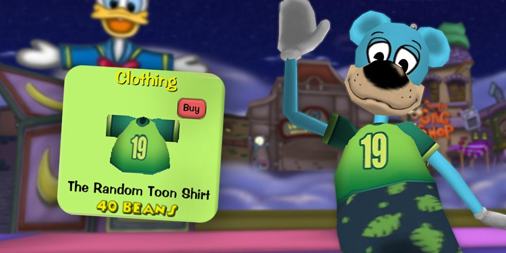 Kong waving next to The Random Toon Shirt.