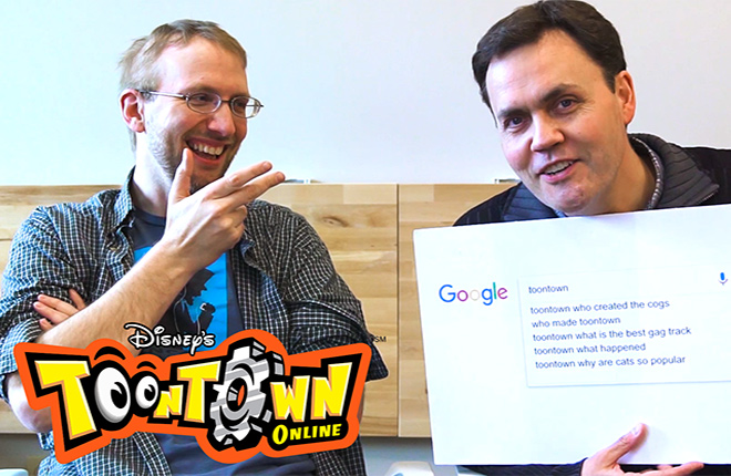 Toontown Online Developers, Jesse Schell and Shawn Patton of Schell Games, take the Autocomplete Challenge!