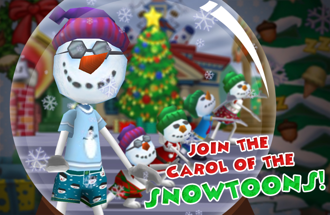 Sing a song or two with the Snowtoons!