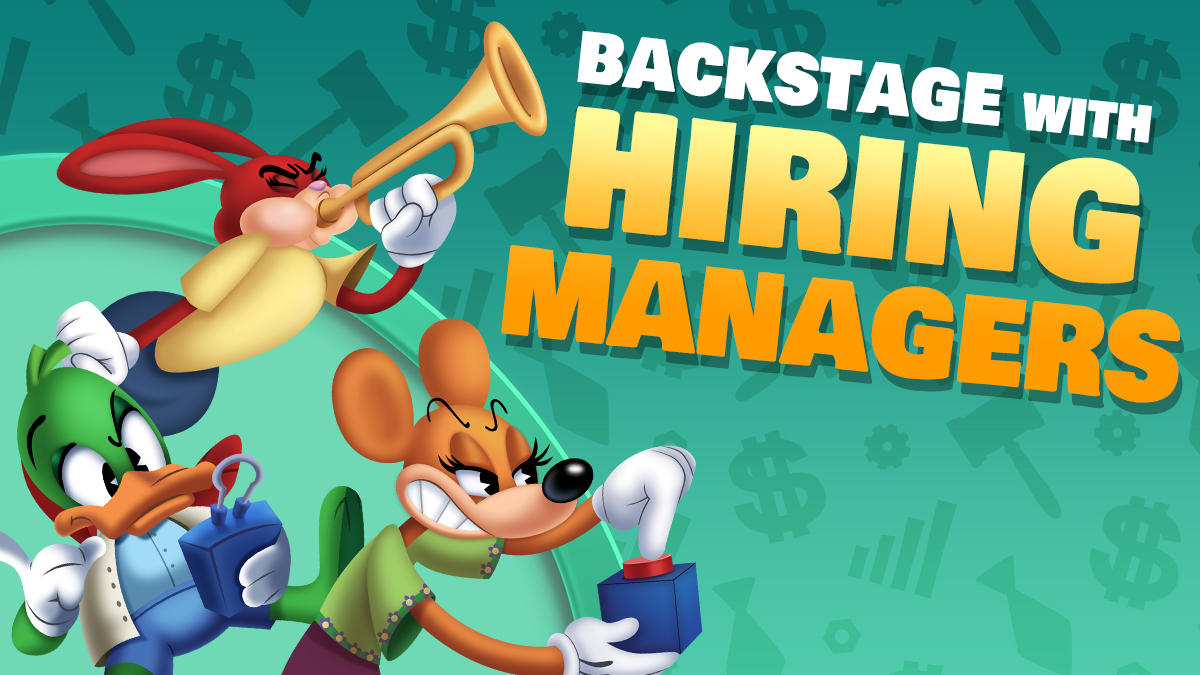 Image: Backstage with Hiring Managers!