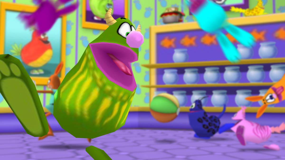Image: Fluffy and his friends have taken over the Toontown Pet Shop!