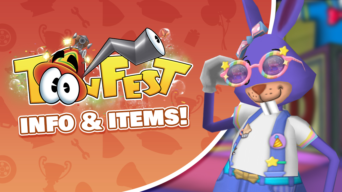 Image: A particular Slate Blue Rabbit shows off a new ToonFest glasses accessory.