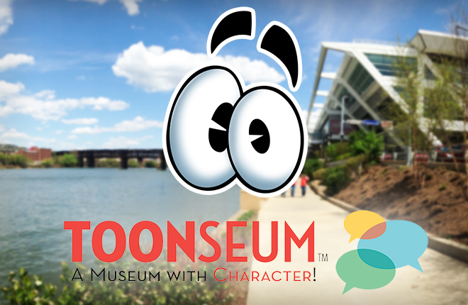 Toontown Teaser paired with ToonSeum Logo